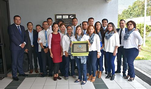Entrega de Placa que Acredita al Centro Certificador Universidad Tecnológica de Xicotepec de Juárez