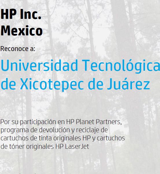 Reconocimiento de HP a la UTXJ