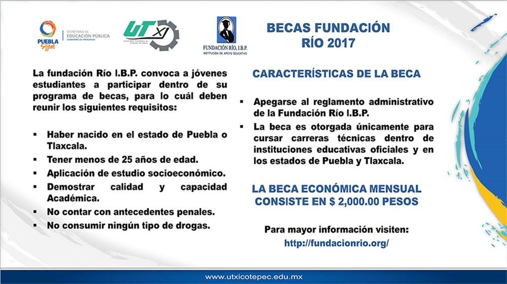 Convocatoria Beca Fundación RÍO 2017