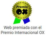 Web premiada con el Premio Internacional OX