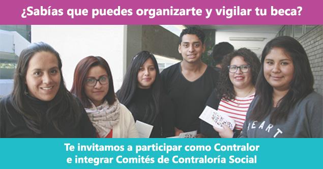 Convocatoria Contraloría Social Beca Manutención 2017