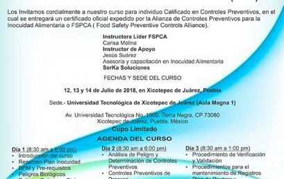 "Curso ""Individuo Calificado en Controles Preventivos (ICCP)"""