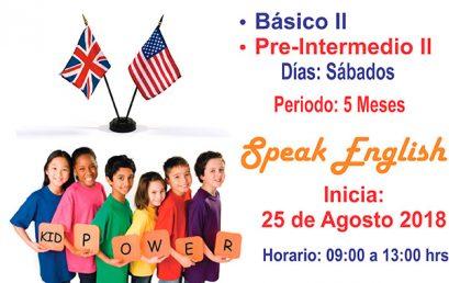 Curso de Inglés Básico II y Curso de Inglés Pre-Intermedio II para Niños