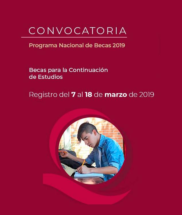 Convocatoria Beca para la Continuación de Estudios 2019