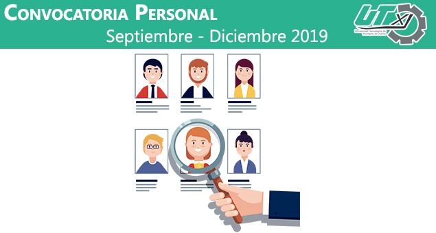 Convocatoria Personal Septiembre – Diciembre 2019