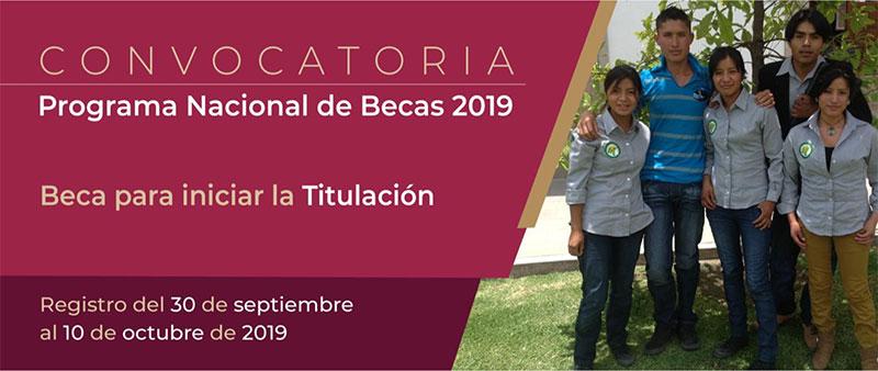 Convocatoria Beca para iniciar la Titulación 2019