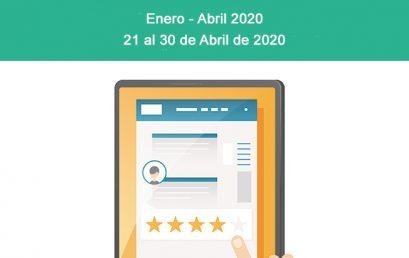 Evaluación a Docentes Enero – Abril 2020