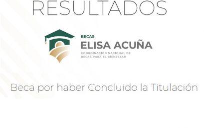 Resultados Beca por haber Concluido la Titulación