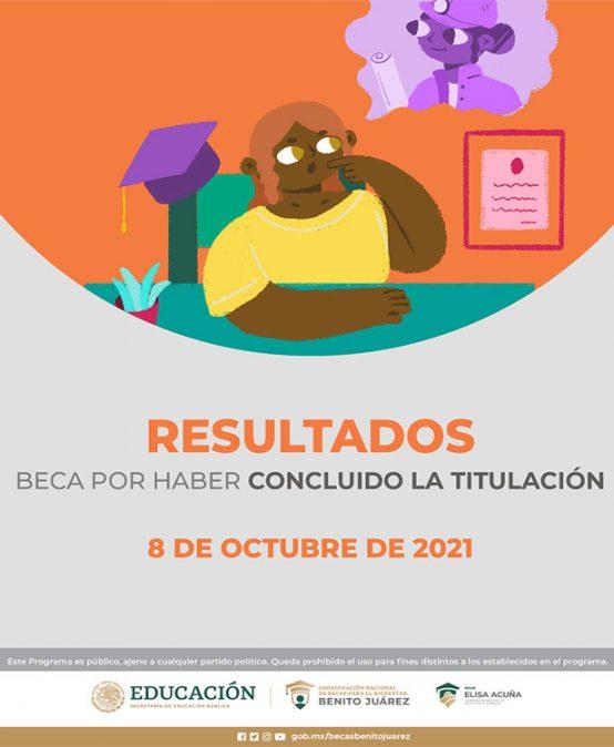 Resultados de Beca por Haber Concluido la Titulación