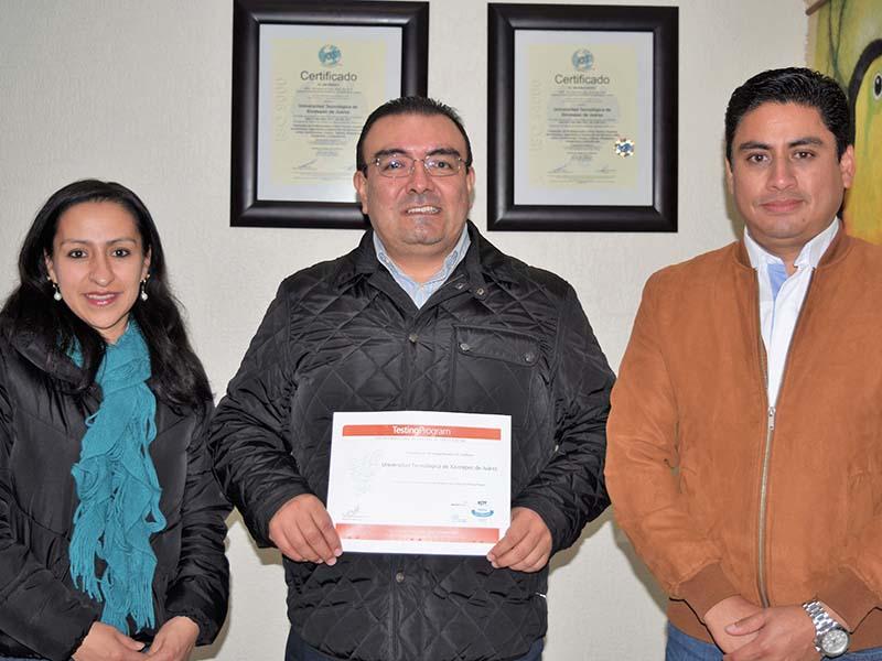 Certificación a la UTXJ como miembro de la Red Internacional de Centros de Certificación Testing Program