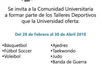 Talleres Deportivos 2018