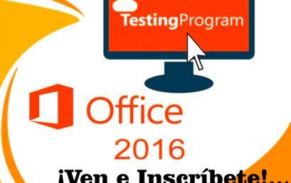 Certificación Testing Program Office 2016