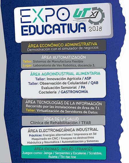 EXPO Educativa 2018 UTXJ Información Talleres