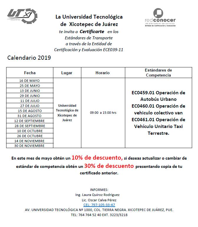 Certificación Estándar ECE039-11