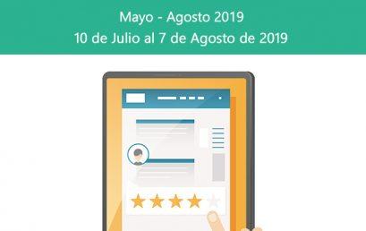 Evaluación a Docentes Mayo – Agosto 2019