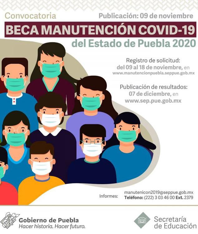 Convocatoria Beca Manutención Puebla COVID19 2020